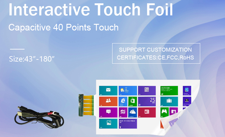 55 Inch Interactive Touch Film