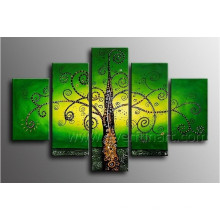 Green Tree Landscape Oil Painting