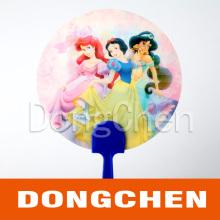 Girls Loved Beautiful Cartoon Round 3D Lenticular Image Fan