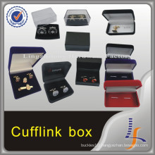 Luxury New Custom Logo Velvet Cheap Cufflink Box