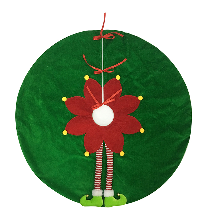 Plush Christmas Magic Elf Tree Skirt