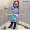 Christmas Baby Clothing Long Sleeve Beautiful Flower Colorful Dress Girls Children