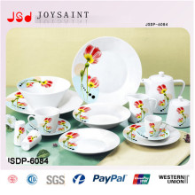 Porcelain Color Decal Dinnerware