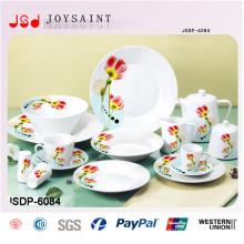 Porcelain Color Decal Dinnerware