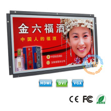 "wide screen TFT color 15"" open frame LCD monitor with HDMI VGA DVI port"
