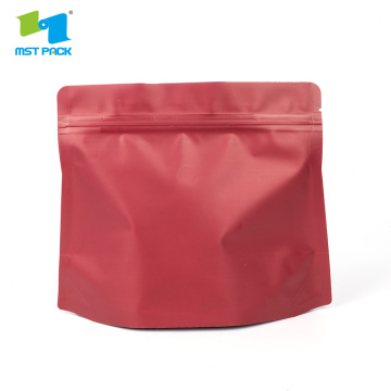 Diamond Pocket Zipper Doypack Coffee Stand Up Pouch