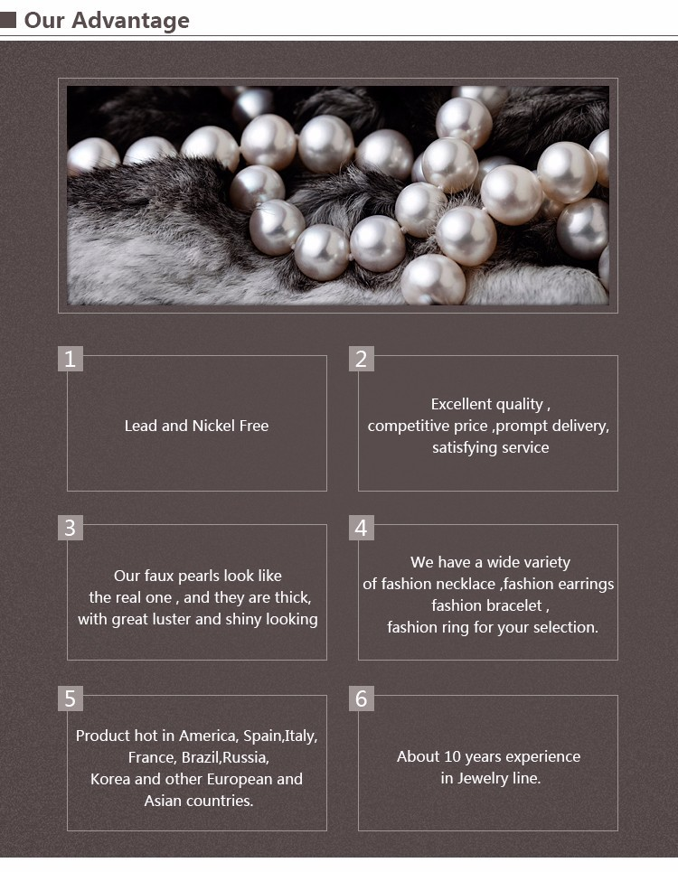 White Pearl Bead Necklace Strand Bulk