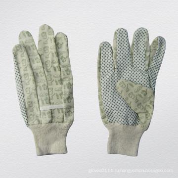 ПВХ точками ладони хлопок сад перчатки--2620
