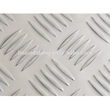 Feuille d'aluminium de 3003 H14 cinq barres