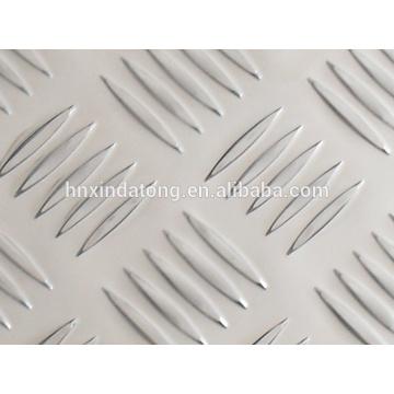 Hoja de aluminio 3003 H14 de cinco barras