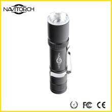 Portable Clip 3 Modos anodizado lanterna de alumínio (NK-6620)