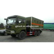 Dongfeng 6x6 anti explosive van box truck for dangerous goods transportation