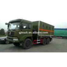 Dongfeng 6x6 anti explosive van box truck for dangerous goods transportation