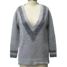 Women V-Neck Pullover Knitting Sweater