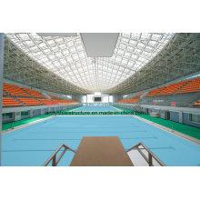 Marco de espacio de acero ligero de gran tamaño para la cubierta de la piscina