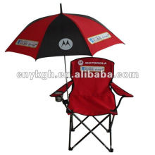 складной стул пляжа с зонтиком