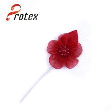 Materiais Vermelhos Regal Da Decoração Do Casamento Flor Handmade Da Organza