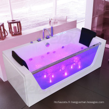 Nouvelle baignoire de massage en marbre blanc avec bain à remous