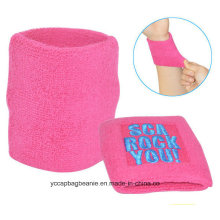 Custom Made Soft Zipper Sweatband Sports Wristband