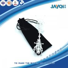 Black Microfibre Jewelry Bag