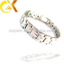 Novo design de cadeia de prata para homens pulseiras jóias de aço inoxidável