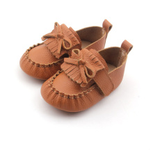 Novo estilo Brown Leather Shoes Baby With Mocassins