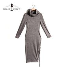 Diferentes modelos de dupla camada saia longa vestido casual mulheres