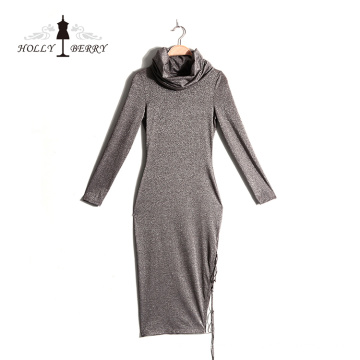 Différents modèles à double couche jupe longue robe décontractée pour femmes