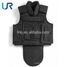 Полный кевлар черный пуленепробиваемый бронежилет костюм
