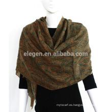 Bufanda 100% lana con franjas