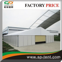 extra large temporary warehouse tent garage 15x60m with sandwich wall and auto rilling door for car storage
