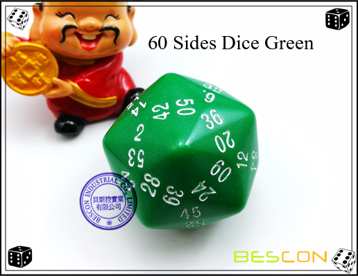 60 Sides Dice Green