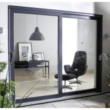 Porte coulissante en aluminium de haute qualité pour usage commercial