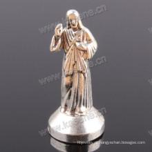 Divina Misericórdia Pequena Liga de Zinco Estátua Católica