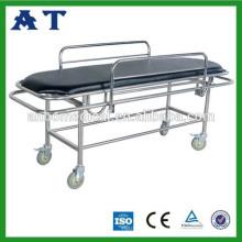 Нержавеющая сталь больницы обследование кровать с колесиками