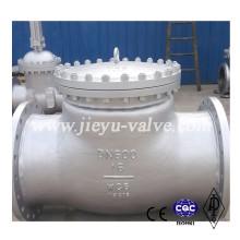 Pn16 Dn600 válvula de retenção de aço carbono Swing