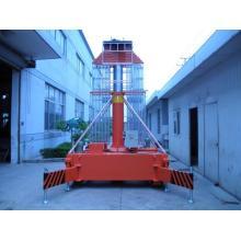 Elevador de cilindro telescópico de escalera de escalera doble de 10 m.