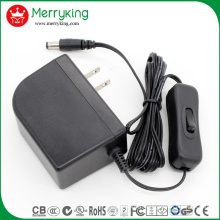 12V 2A AC/DC Adapter with FCC/UL/cUL/CE/GS/CB/SAA