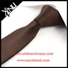 100% handgemachte Polyester Krawatte Solid Color Skinny