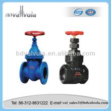Válvula manual válvula de puerta de hierro fundido válvula de compuerta cuniforme