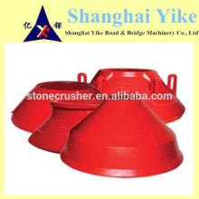 mantle and concave spare parts for crusher