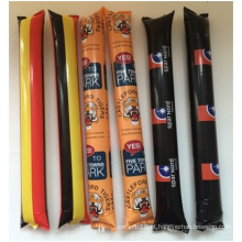 Customized Reabastecimento Futebol Cheer Sticks, Material PE Abnormity La-La-La Bar