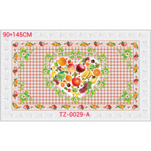 Colorfull PVC Impresso Toalha de Mesa Transparente de Design Independente 90 * 145 cm Fábrica Atacado