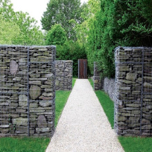 Tamanho de caixa de pedra de gabião