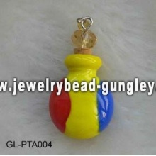 Romania flag shape lampwork perfume bottle