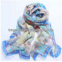 SD319-125 fashion magic silk scarf