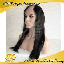 Jungfrau Menschliches Haar brasilianische u Teil Perücke Mittelteil