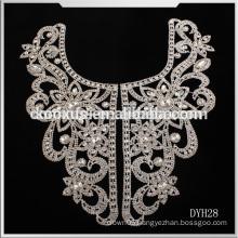 Crystal bridal rhinestone applique,bridal applique rhinestones,bridal rhinestones appliques for wedding