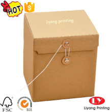 Custom rigid cardboard gift box with lid