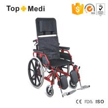 Topmedi High End Reclining Manual Wheelchair with High Back